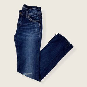 Silver Suki Mid Rise Straight Super Stretch Jeans